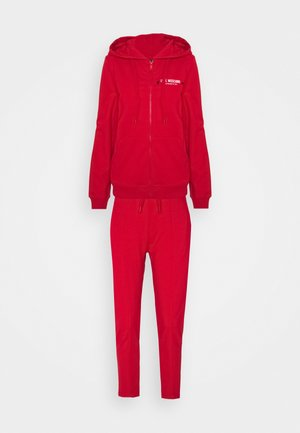 SET - Zip-up hoodie - red