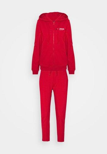 SET - Zip-up sweatshirt - red
