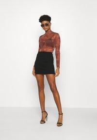 Monki - DARIA SKIRT - Mini skirt - black - 1