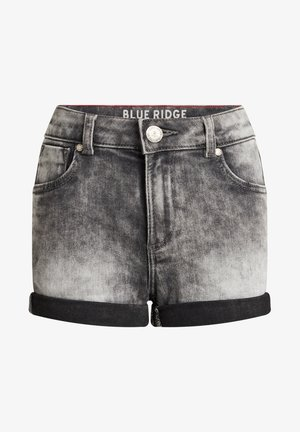 SKINNY FIT  - Denim shorts - grey