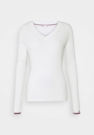 WARM GLOBAL STRIPE - Sweter - ecru