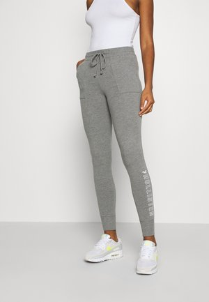 LOGO FLEGGING - Tracksuit bottoms - medium grey