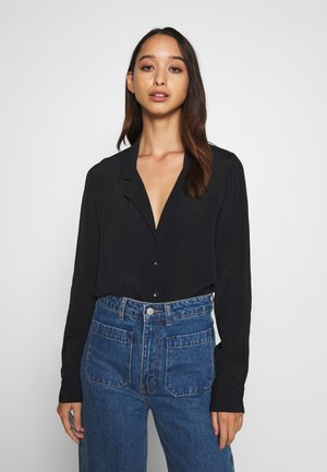 THE BLOUSE - Button-down blouse - black
