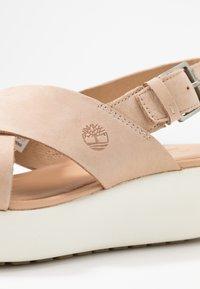 Timberland - LOS ANGELES WIND SLINGBAC - Platform sandals - light beige - 2