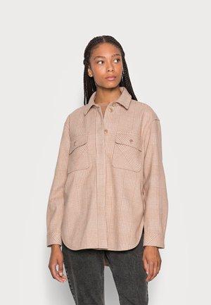 BLAZER OVERSHIRT CHECKED - Summer jacket - offwhite beige