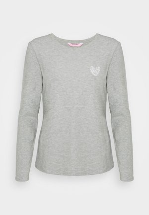 HEARTS - Haut de pyjama - warm grey melee