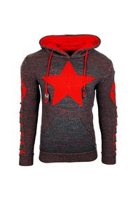Rusty Neal - Hoodie - anthrazit / rot - 0