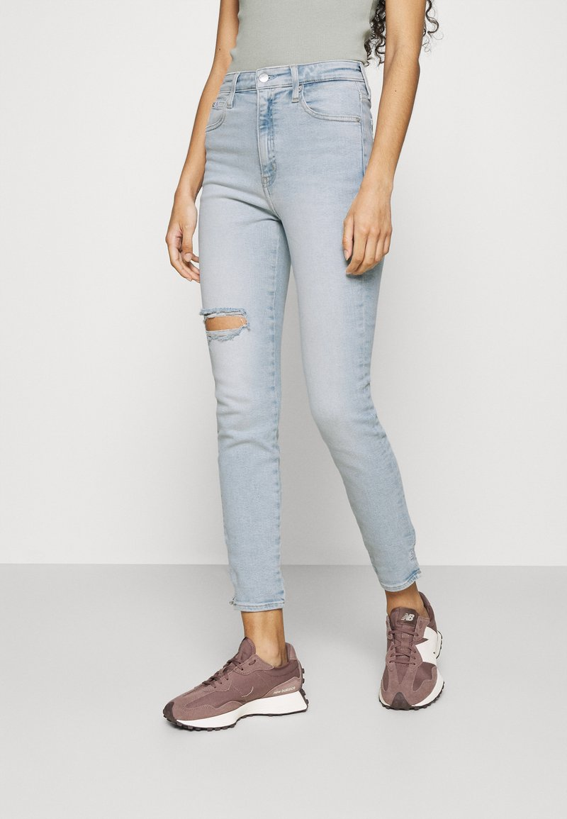 Calvin Klein Jeans - HIGH RISE ANKLE - Jeans Skinny Fit - blue