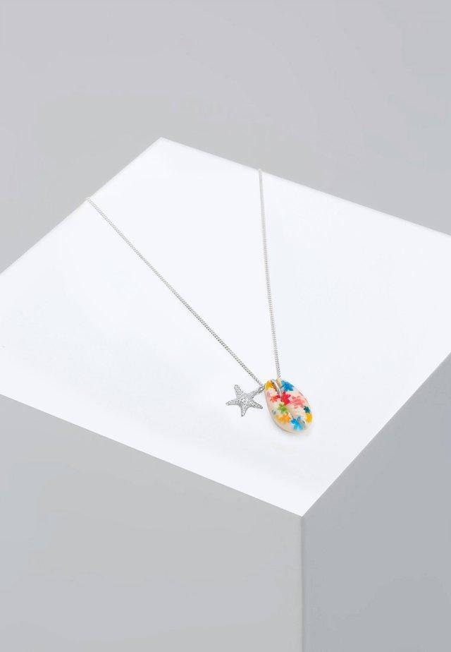 BUNTE KAURI -MUSCHEL - Necklace - silber