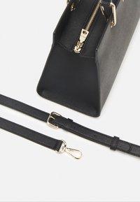 DKNY - VIVIAN DOUBLE FLAP SHOULDER - Handbag - black/gold-coloured - 3
