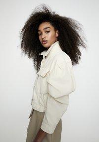 PULL&BEAR - Faux leather jacket - beige - 4