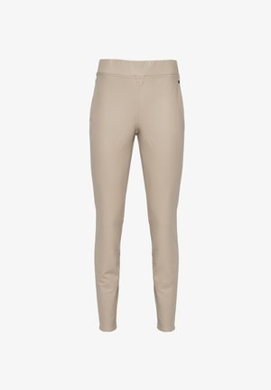 Leather trousers - sand