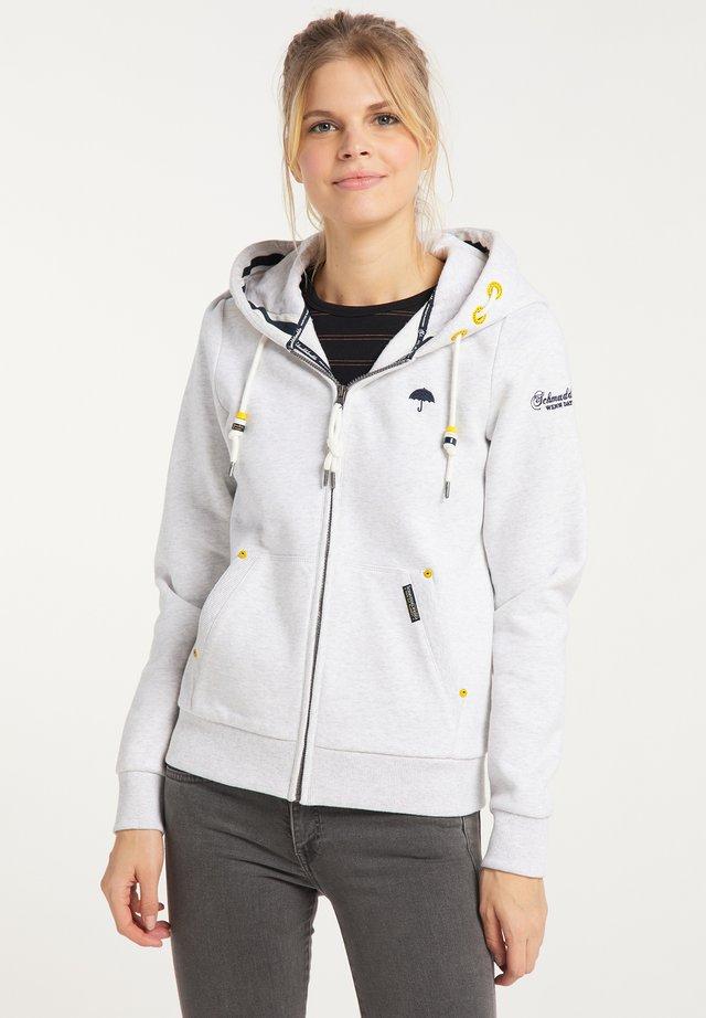 veste en sweat zippée - weiss melange