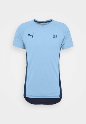 MANCHESTER CITY EVOSTRIPE TEE - Sports shirt - team light blue/peacoat