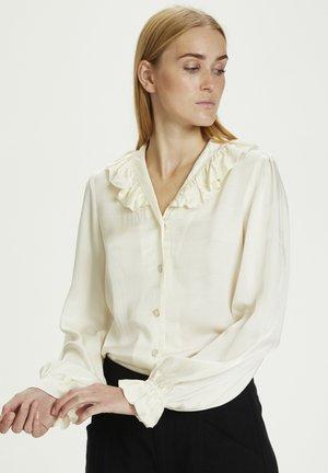 Button-down blouse - egret