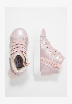 High-top trainers - lilac