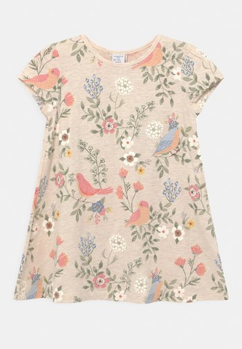 MINI - Print T-shirt - light beige melange