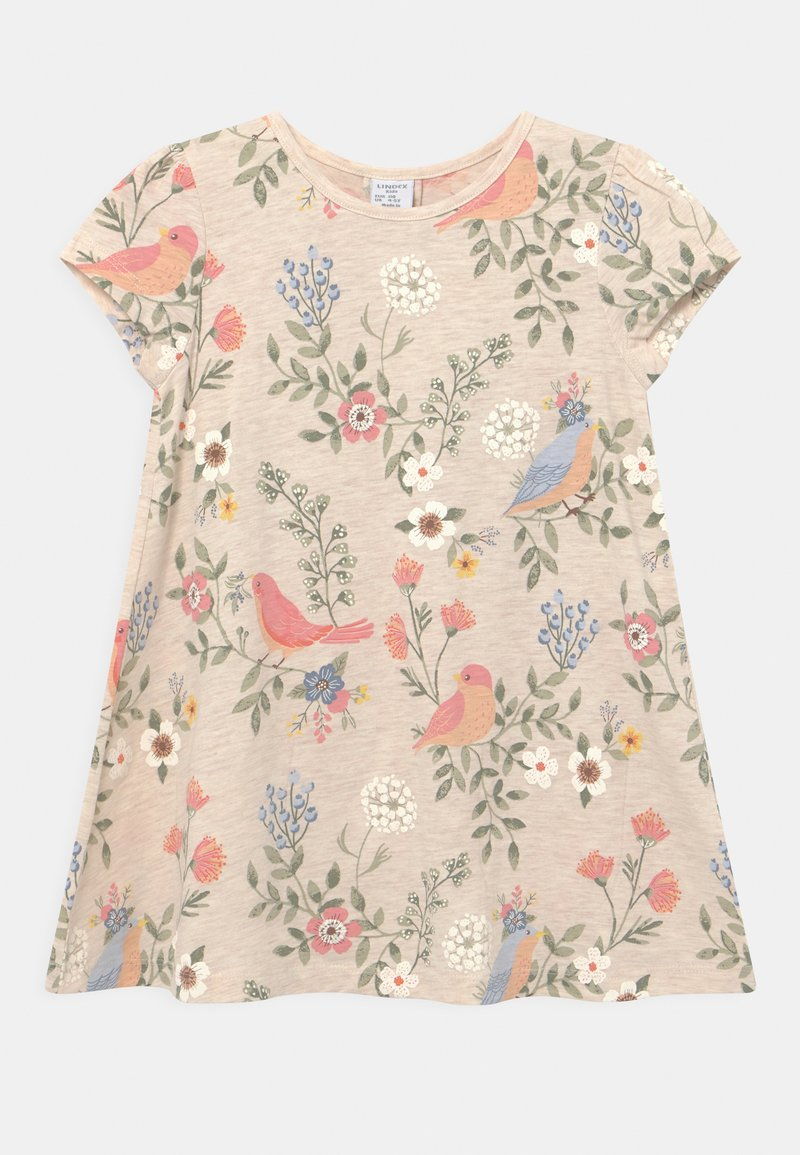 Lindex - MINI - Print T-shirt - light beige melange