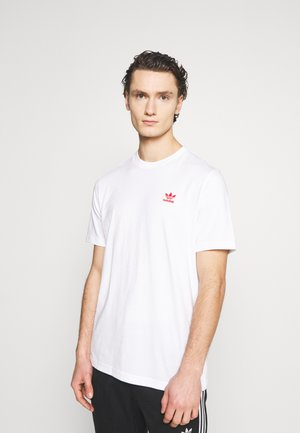 ESSENTIAL TEE UNISEX - Basic T-shirt - white/scarle