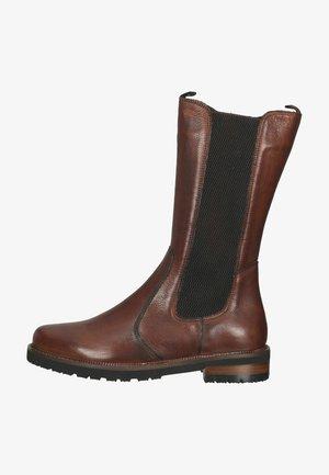 Platform boots - ginger gianduia