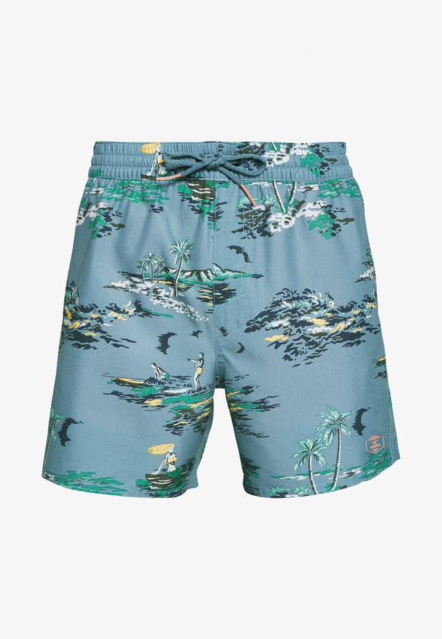 TROPICAL - Badeshorts - blue/yellow