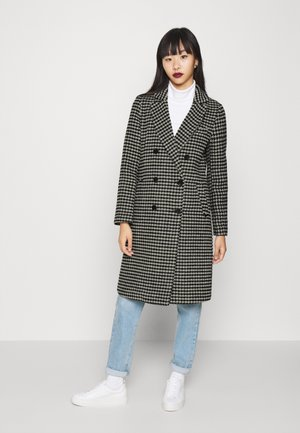 DOUBLE BREASTED TAILORED COAT IN BLEND - Classic coat - black