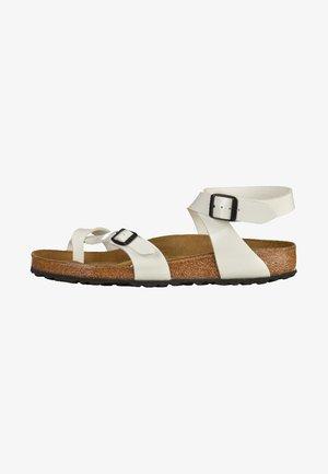 YARA - T-bar sandals - white