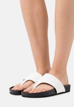 HARMONEE - T-bar sandals - white