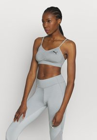 Puma - RUCHING SPORT BRA - Sports bra - quarry - 0