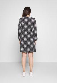 Wallis Petite - PETITE CLUSTER HEART MINI WRAP DRESS - Day dress - black - 2