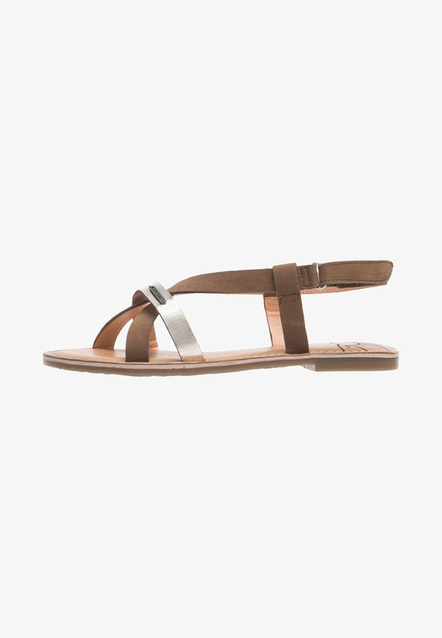 MANDY  - Ankle cuff sandals - tabaco