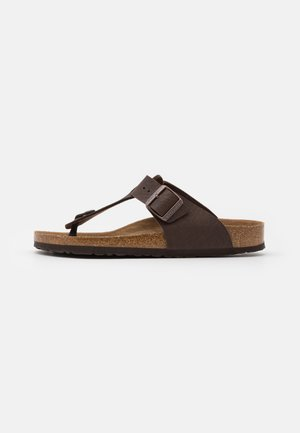MEDINA VEGAN FOOTBED - Slippers - saddle matt brown