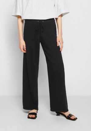 ALEXANDRA WIDE LEG TROUSERS WITH POCKET - Trousers - black