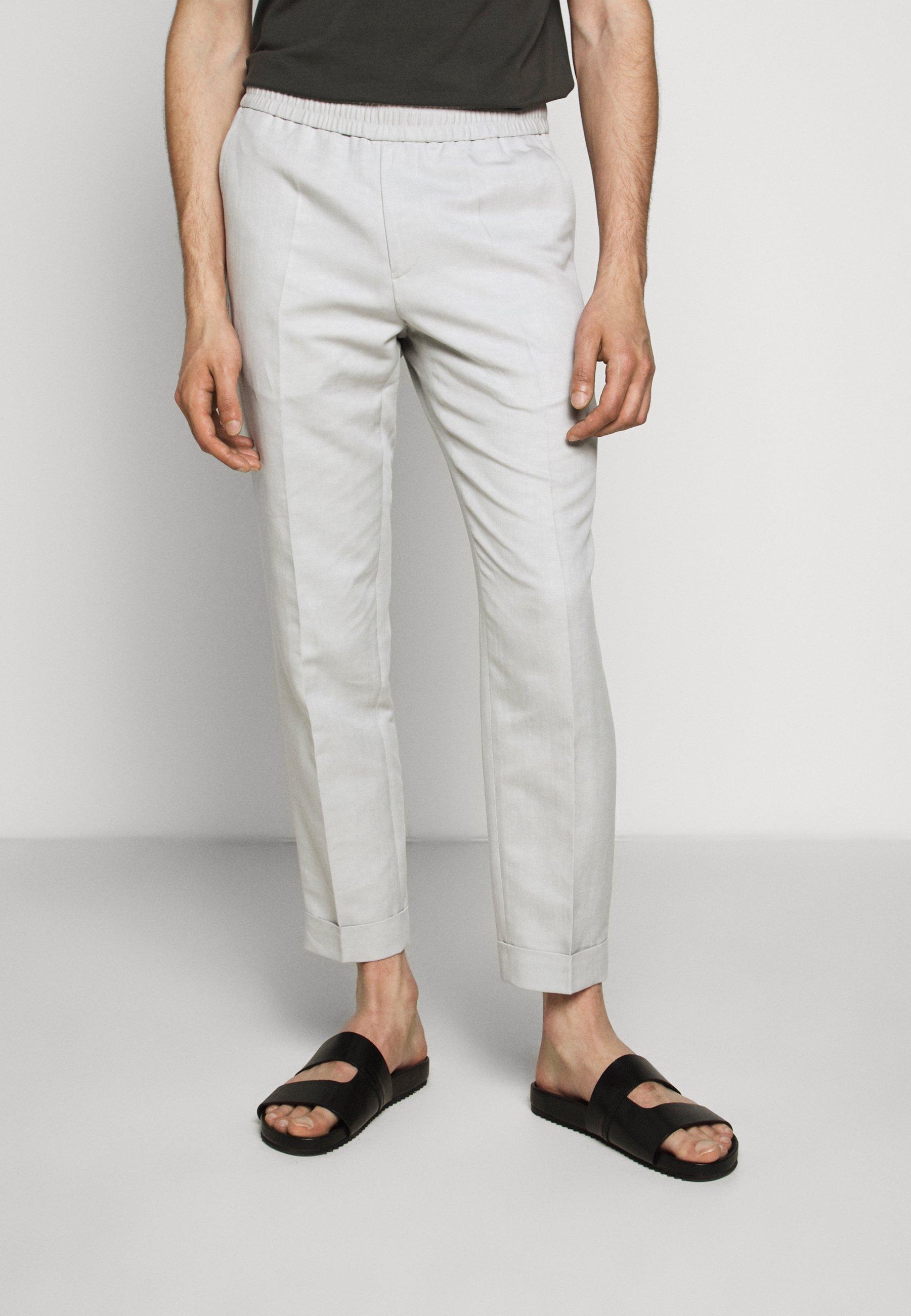 Homme TERRY CROPPED SLACKS - Pantalon classique