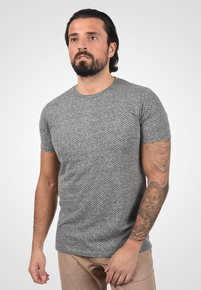 Basic T-shirt - dark grey melange