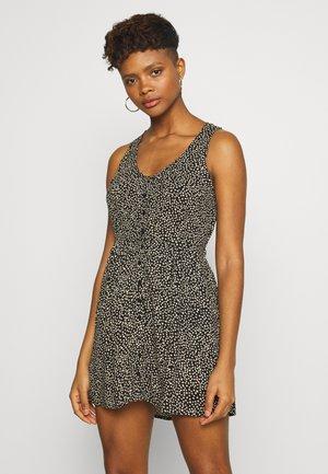 ALMA TANK DRESS - Denní šaty - black / white