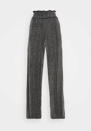 VMKAIDACOCO WIDE PANT - Trousers - black/silver
