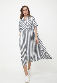 Madam-T - KORNA - Maxi dress - schwarz/weiß - 1