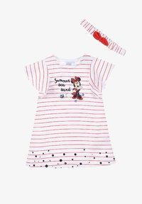 Mickey & Minnie - MINNIE MOUSE BABYKLEID MIT HAARBAND - Jersey dress - rot - 0