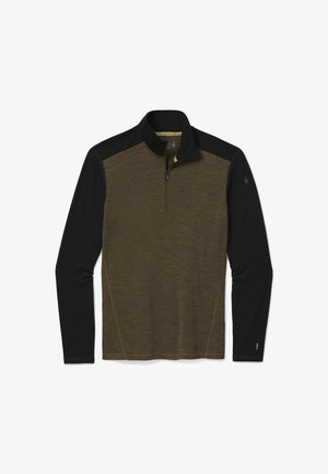 MIDWEIGHT 250 BASELAYER 1/4 ZIP - Long sleeved top - mltry olv h black