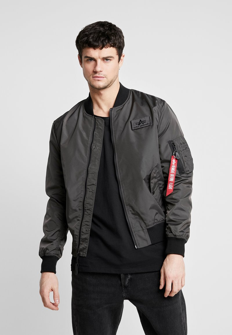 Alpha Industries - Giubbotto Bomber - grey/black