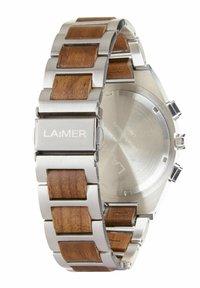 LAIMER - SOLARUHR HOLZUHR MILO SOLAR - Montre à aiguilles - silver/brown - 3