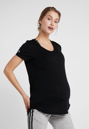MATERNITY GYM TEE - T-shirt basic - black