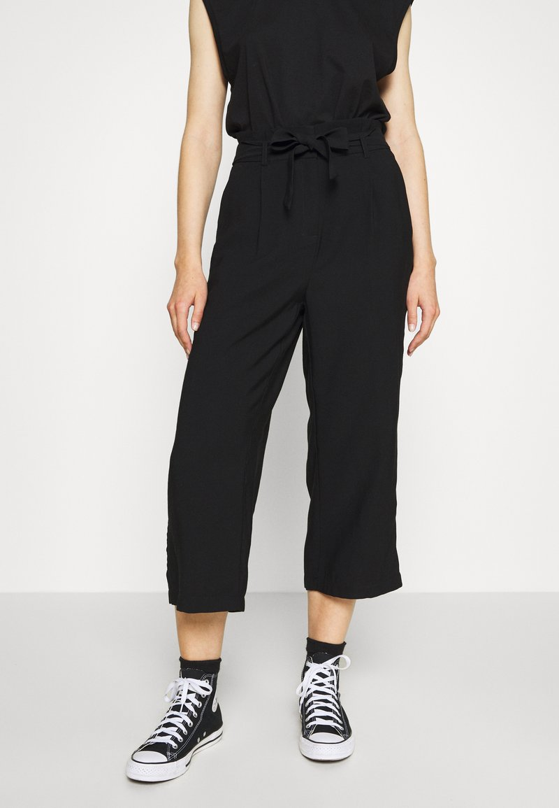 Vero Moda - VMEMILY CULOTTE PANT - Trousers - black