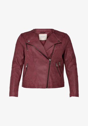 CARAVANA  - Faux leather jacket - pomegranate