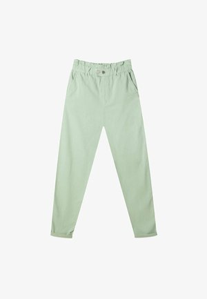 TWILL-BAGGY - Stoffhose - light green