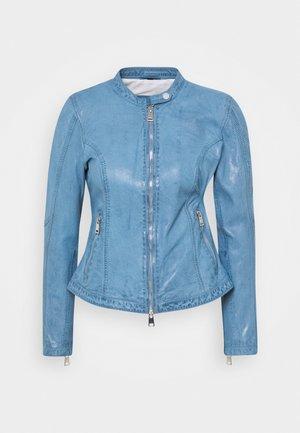 NEW TULA - Leather jacket - bluestone