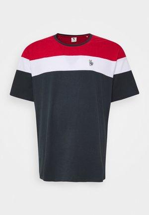 PANEL TEE - Print T-shirt - navy