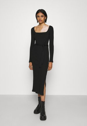 MIDI BELT  - Jumper dress - black