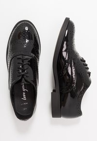 New Look Wide Fit - WIDE FIT JO - Lace-ups - black - 3